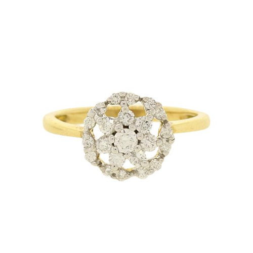 Traditional Style Round Diamond Ring