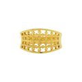 Checkered Gold Ring