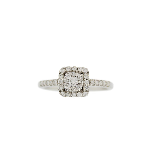Diamond Ring with Center Solitaire