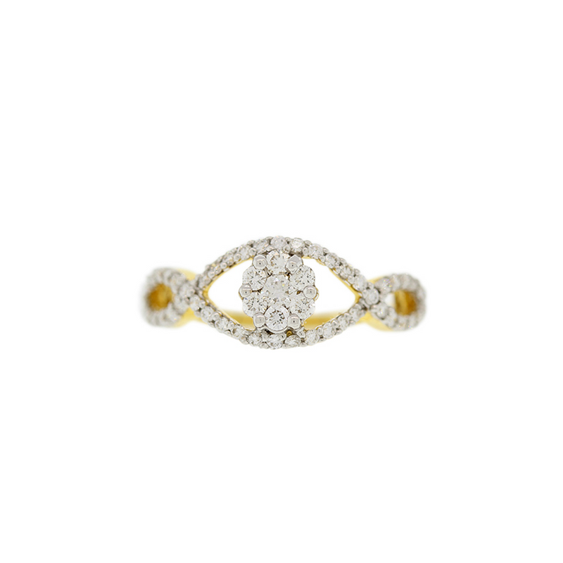 DIAMOND RING WITH WEAVE DESIGN