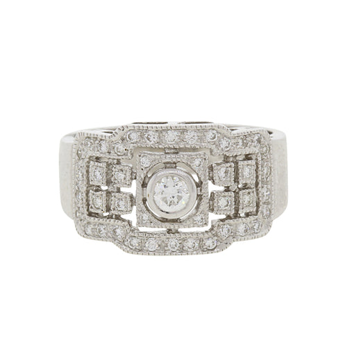 Dazzling Box Style Diamond Ring