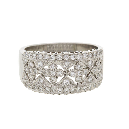 Refined Diamond Statement Ring