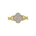 Intertwined CZ Ring