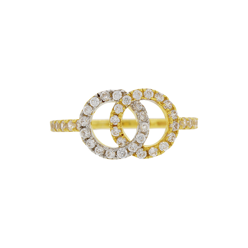 Interlocking CZ Ring
