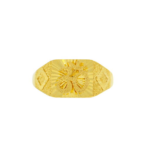 GOLD MENS RING WITH OM DESIGN