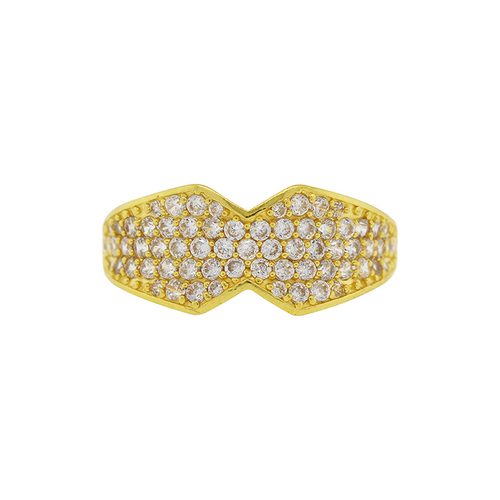 Contemporary CZ Ring
