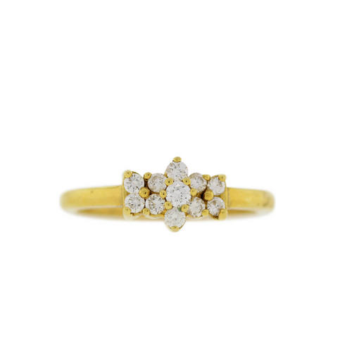 Classic Clustered Diamond Ring