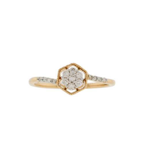 Solitaire Style Rose Gold Diamond Ring