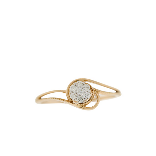 ROSE GOLD RING WITH SOLITAIRE STYLE CENTER