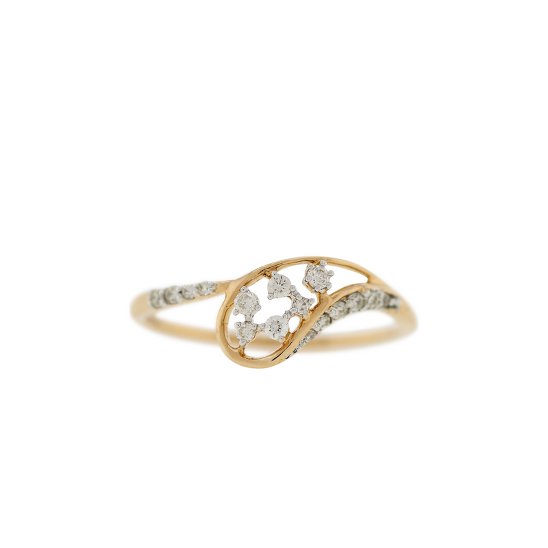Modern Rose Gold Diamond Ring