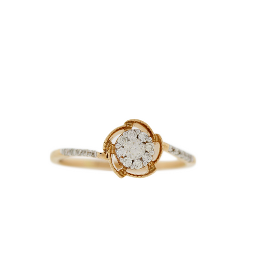 Classic Rose Gold Diamond Ring