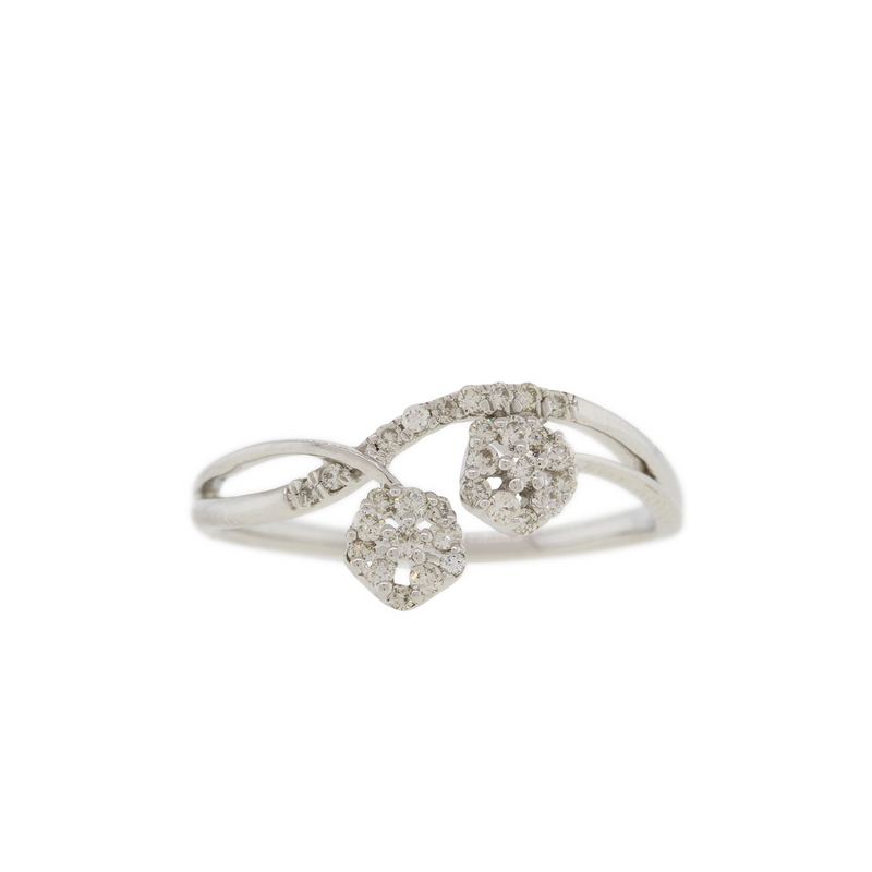 Elegant White Gold Diamond Ring