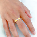 Matte Finish Two-Tone Ring