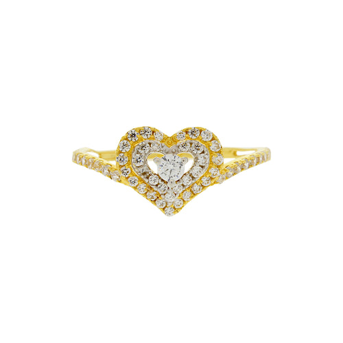 Heart Motif Ladies Ring
