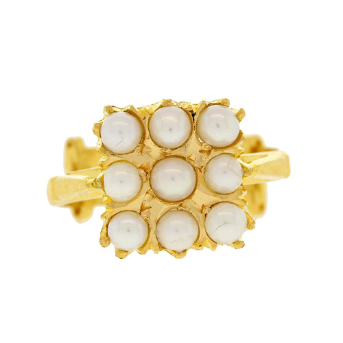 North-studded Pearl Ring