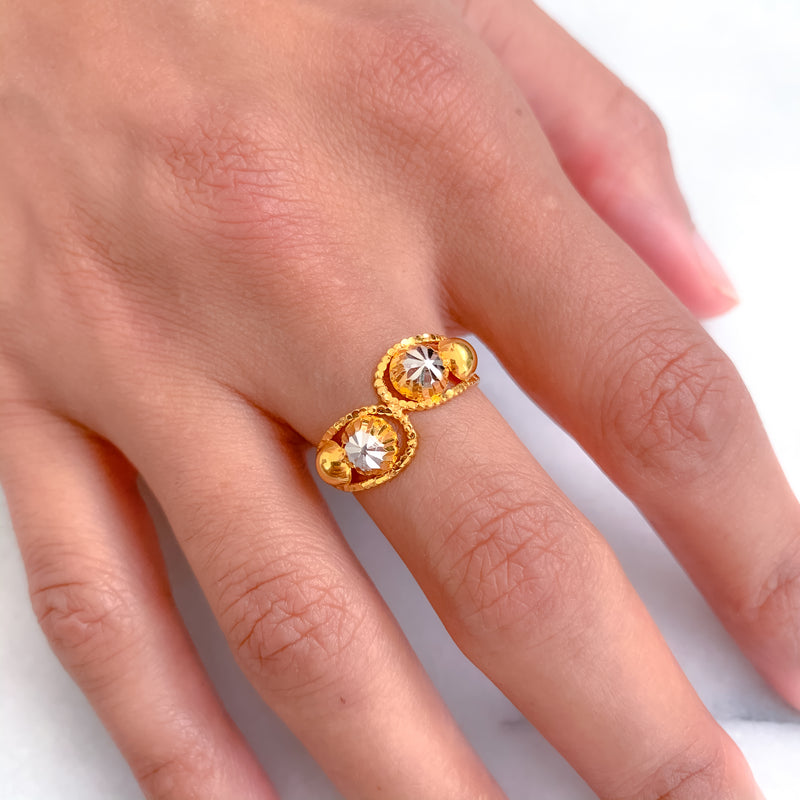 Shiney Two-tone Ring