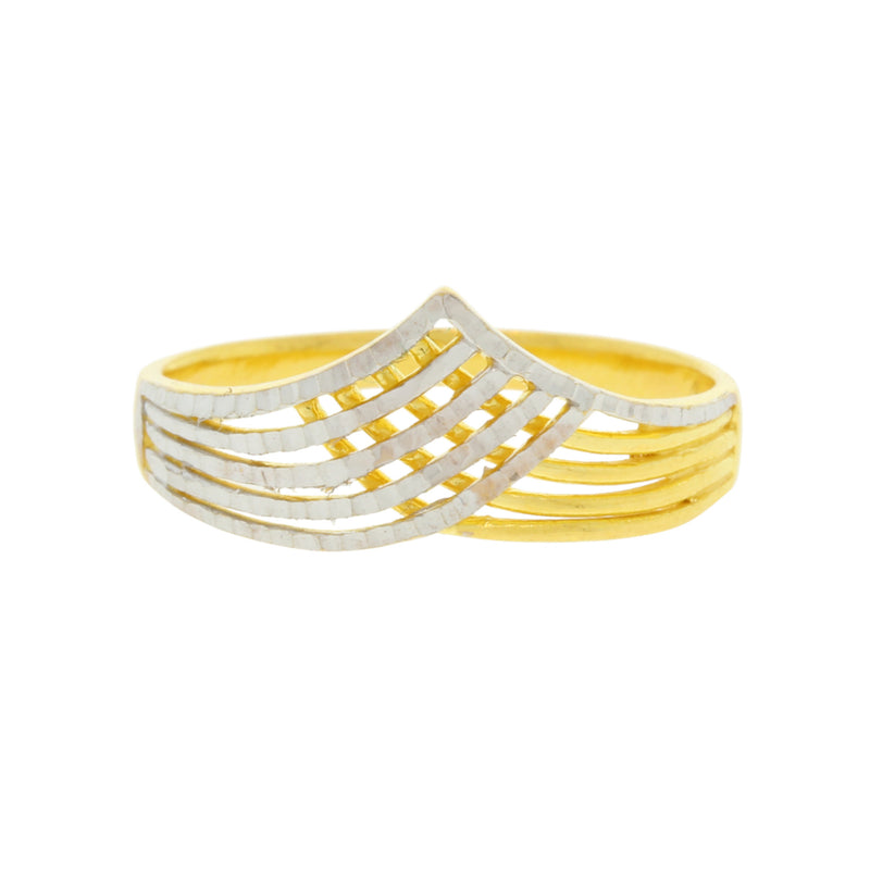 Contemporary Two-tone ring
