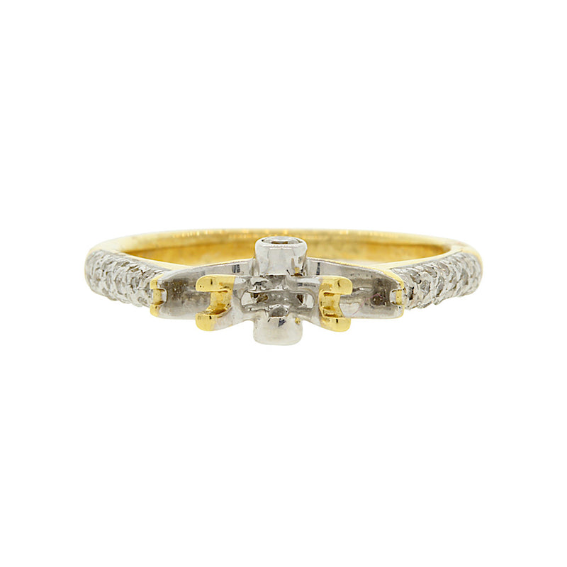 Yellow Gold Diamond Setting