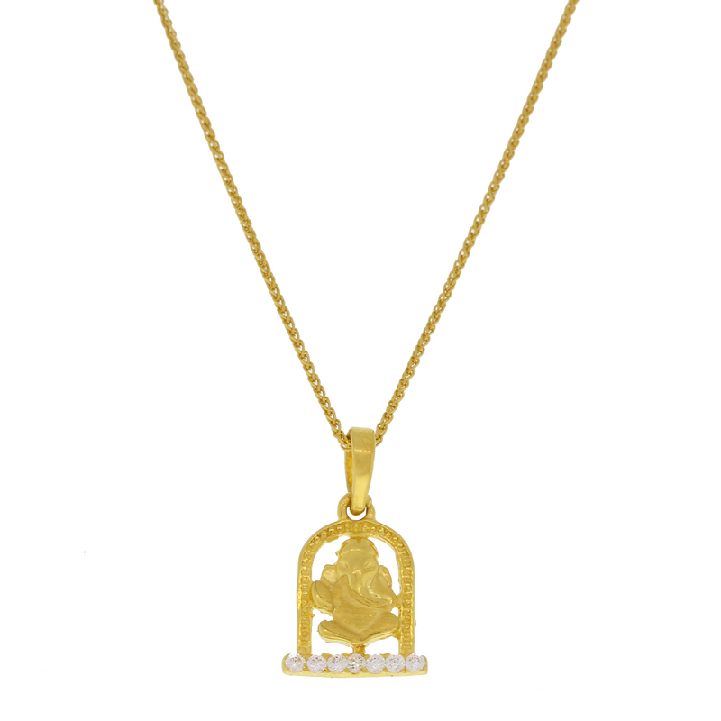 Ganesh Pendant With Chain