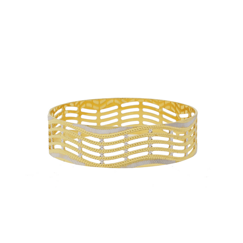 Contemporary Two-Tone Bangle