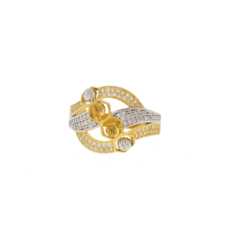 Chic Two-Tone CZ Ring