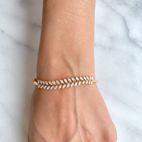 Striking Marquise Diamond Bangle