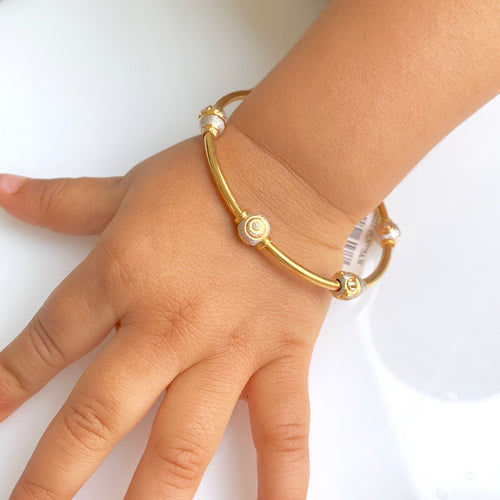 Fancy Two-tone baby bangle - Single