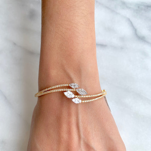 Twisting Vine Diamond Bangle