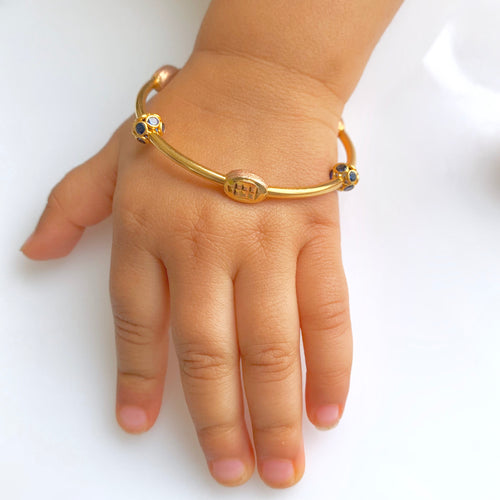 Unique Three-Tone Baby Bangles