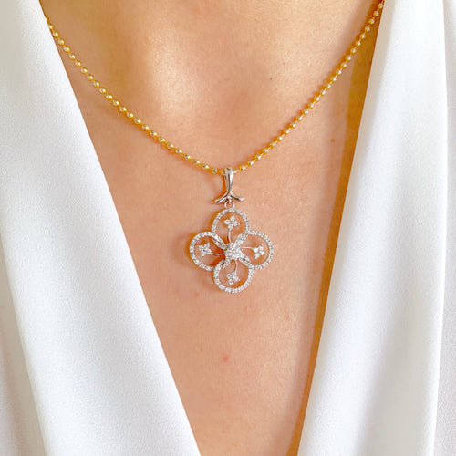 Clover Diamond Pendant