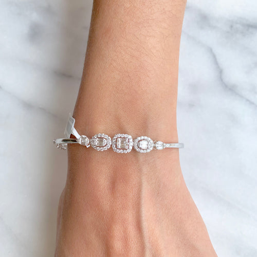 Simple + Classic Formal Diamond Bangle