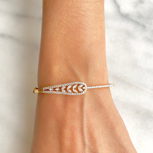 Understated Diamond Bangle Bracelet