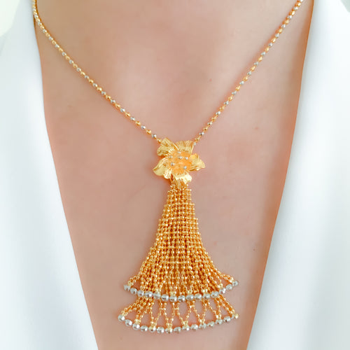 Opulent Chandelier Necklace Set