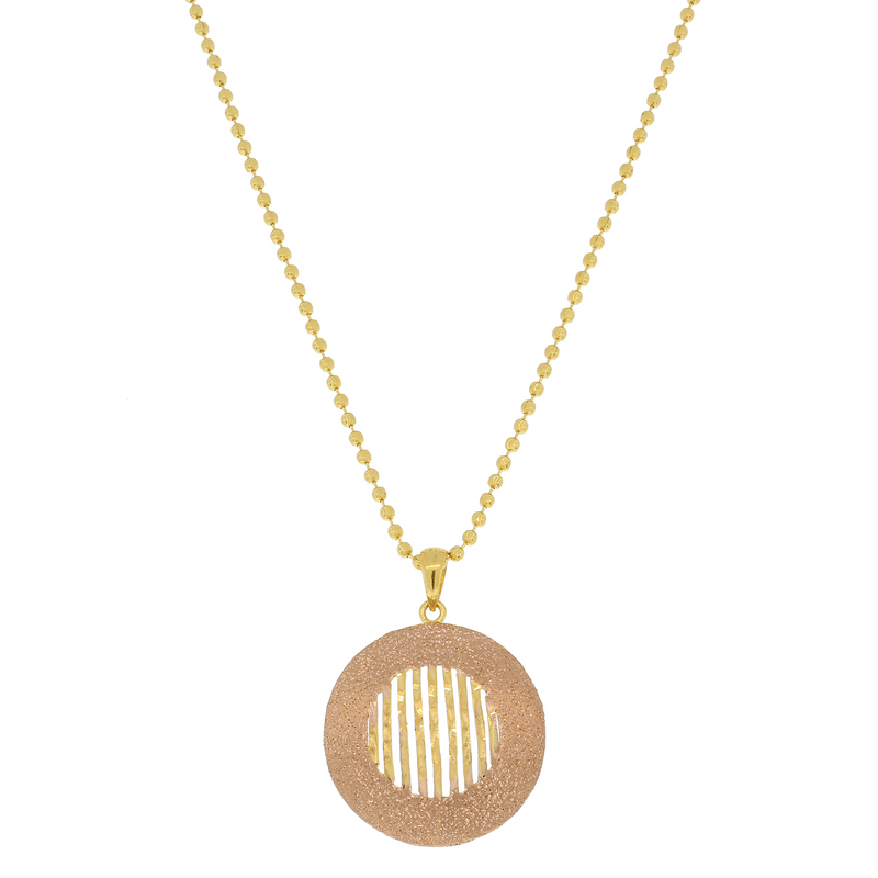 Modern Rose Gold Pendant Set