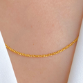 Twisted Gold Bead Chain