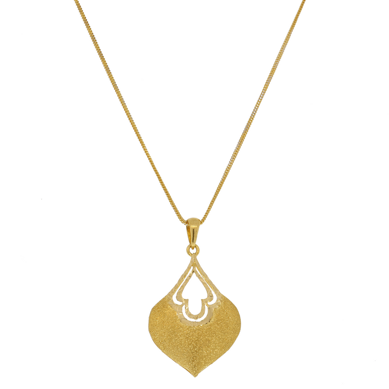 Modern Yellow Gold Pendant Set