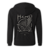 As The Crow Flies Zip-Up Hoodie - Grey