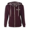 As The Crow Flies Zip-Up Hoodie - Maroon