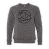 Crow Crewneck Sweater - Grey
