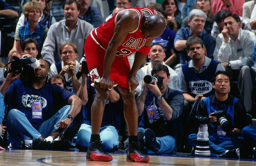 michael jordan flu game utah jazz 1997 NBA finals chicago bulls