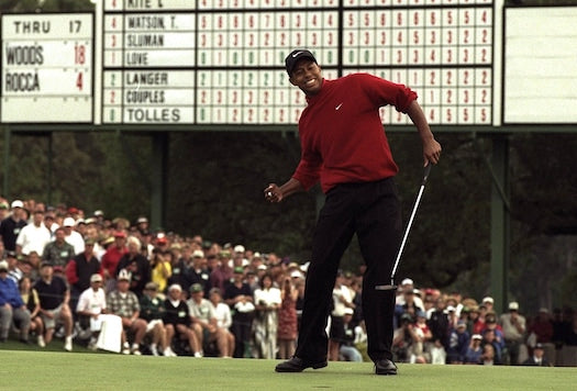 tiger woods the masters augusta national 1997 golf