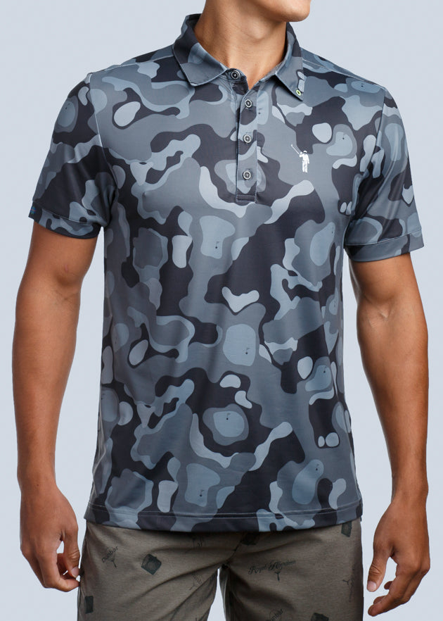 e9d2e4e1 William Murray Golf Bunker Camo Polo