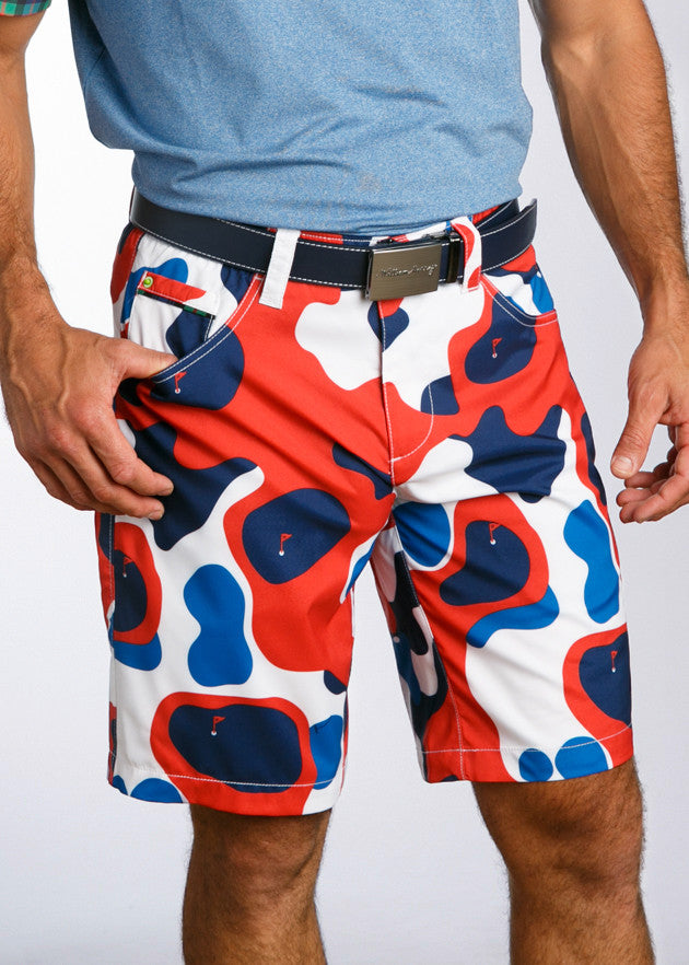 William Murray Golf Bunker Camo Shorts - Red 3a6c75ae5bb