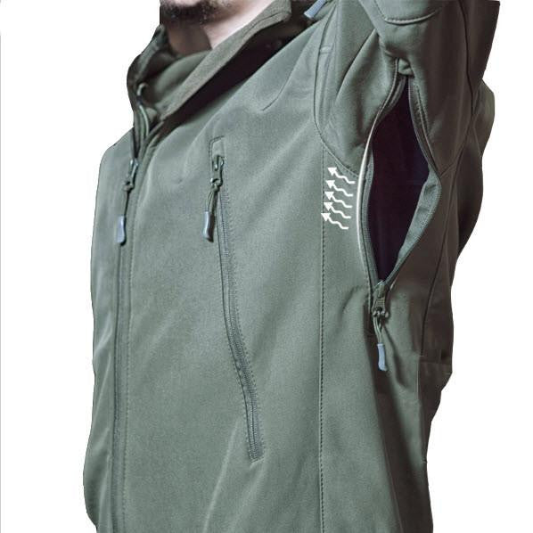 Outdoor Softshell Jacket - Series X1- khaki-camo
