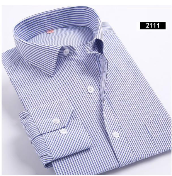 2017 Men's Business Long Sleeved Regular Fit Shirt