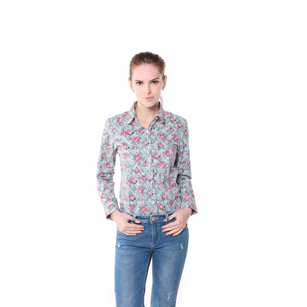 Women's Floral Long Sleeve Blouse Series I