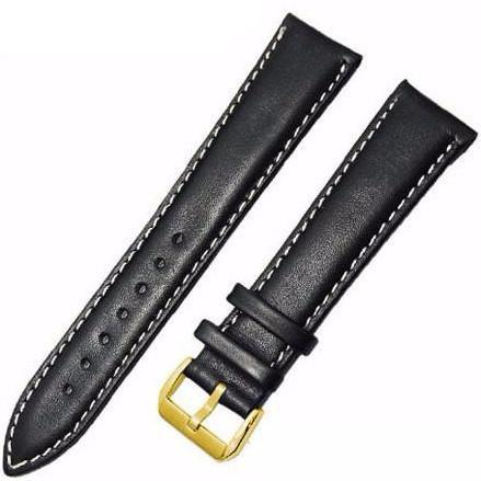 Leather Watch Strap - Black & White, Band Width - 18mm