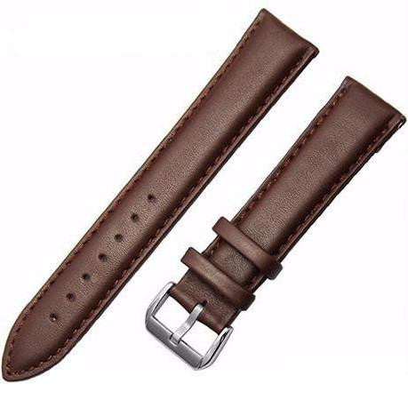 Genuine Leather Watch Strap - Brown