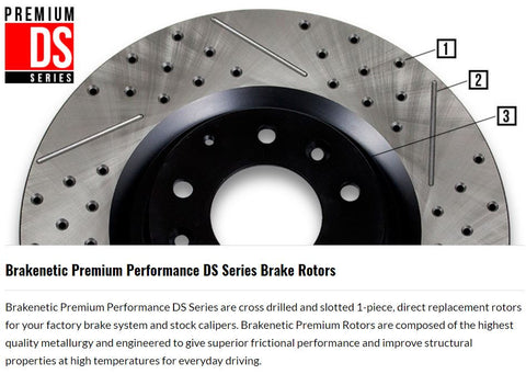 Drilled and Slotted Brake Rotor
