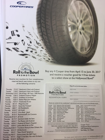 Cooper Tires Tickets to the Hollywood Bowl